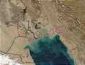 Fires and oil well gas flares in the Persian Gulf - MODIS (Nov. 4, 2002)