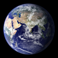 The Blue Marble - Eastern Hemisphere (MODIS)