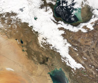 Snow in Iran - MODIS