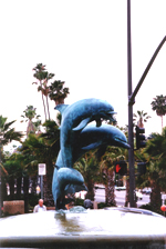 Statutes of Dolphins Santa Barbara - by QH