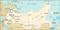 Map of Russia - CIA World Fact Book