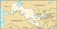 Map of Uzbekistan - CIA World Fact Book