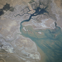 Karun River Delta, Iran - NASA (June 1996)