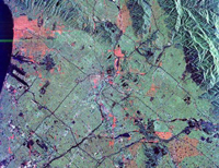 Space Radar Image of Los Angeles, California - NASA JPL (October 3, 1994)