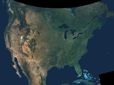 natural-color image of North America NASA/JPL