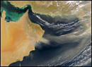 Dust Storm over Gulf of Oman - NASA/SeaWiFS (February 18, 2003)
