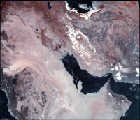 Persian Gulf - AVHRR Mosaic (August 1990)